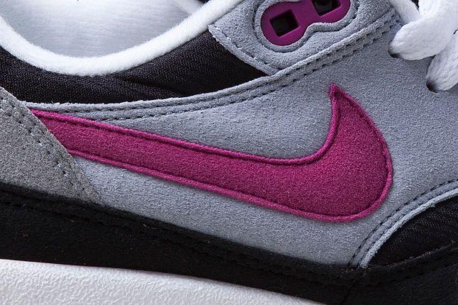 Nike Air Max 1 Grey Violet Close Up Side Panel 1