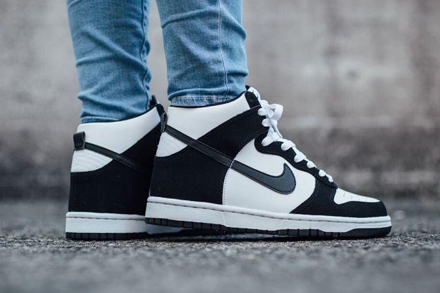 Nike Dunk High Black White 1