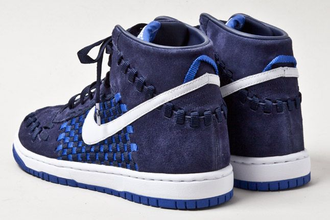 Nike Dunk Woven Checkerboard Blue 1 1