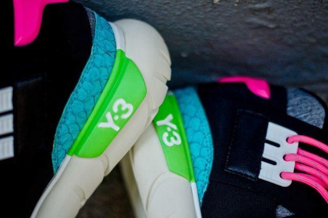 Y 3 Qasa Hi Neon Pack Heel Detail