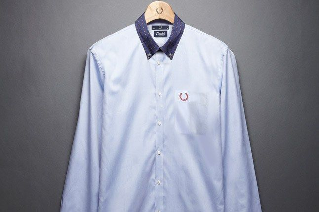 Fred Perry Drakes Blue Shirt 1