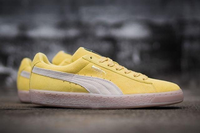Puma Suede Yellow Grey Gum 1