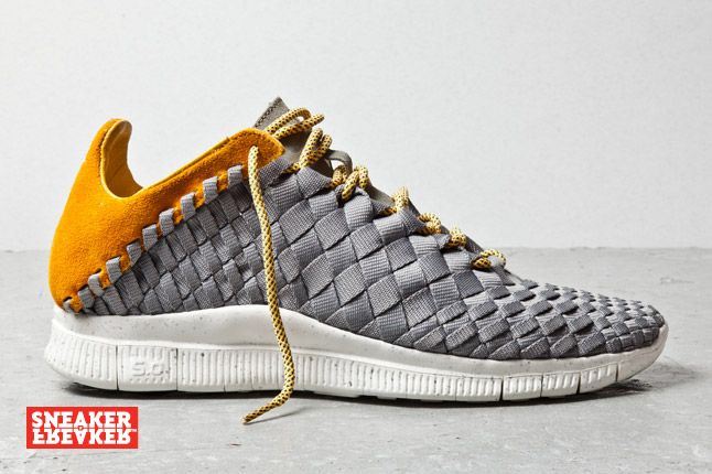 Nike Free Inneva Woven Mine Grey Laser Orange 1 1