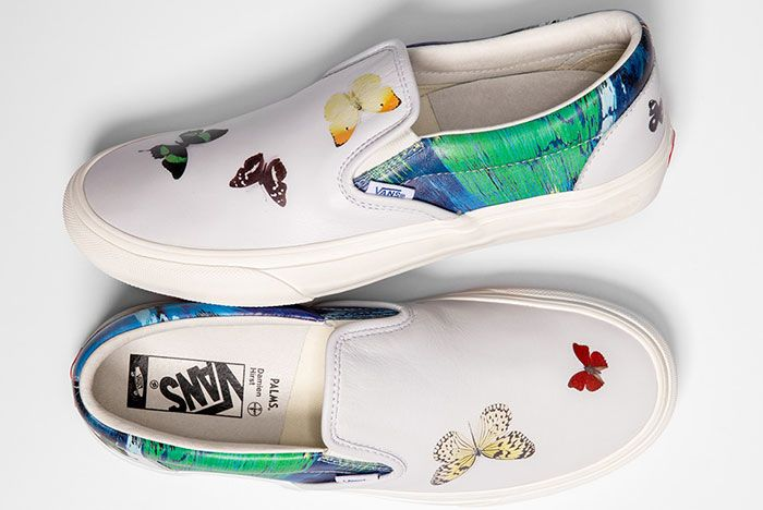 Damien Hirst Vans Vault Classic Slip On Butterfly Top