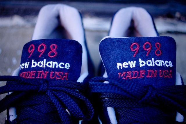 New Balance 998 Navy Burgundy 5