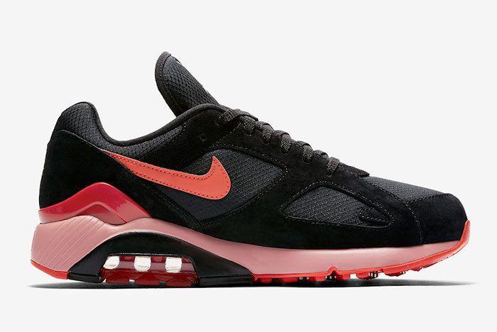 Nike Air Max 180 Black Team Orange University Red Av3734 001 Release Date 2 Sneaker Freaker