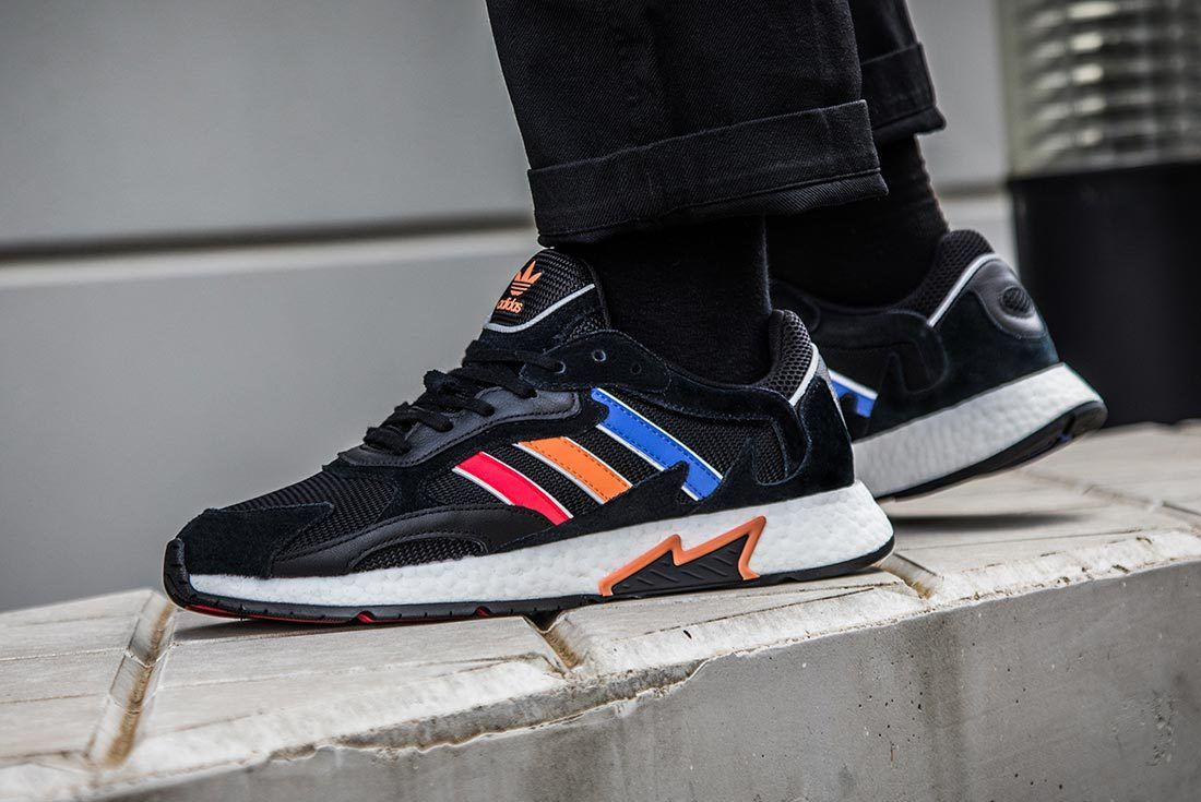 Black Multicolour Adidas Tresc Run Left Side Shot Flat