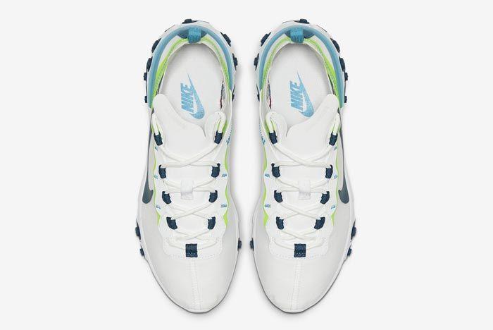 Nike React Element 55 White Navy Sea Green Top