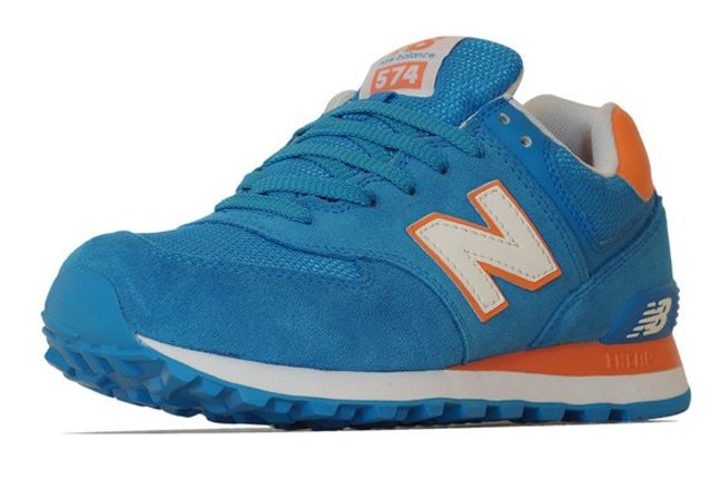 New Balance 574 Blue Orange Profile 1