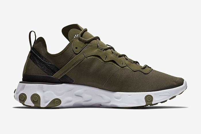 Nike React Element 55 Olive Green White 3