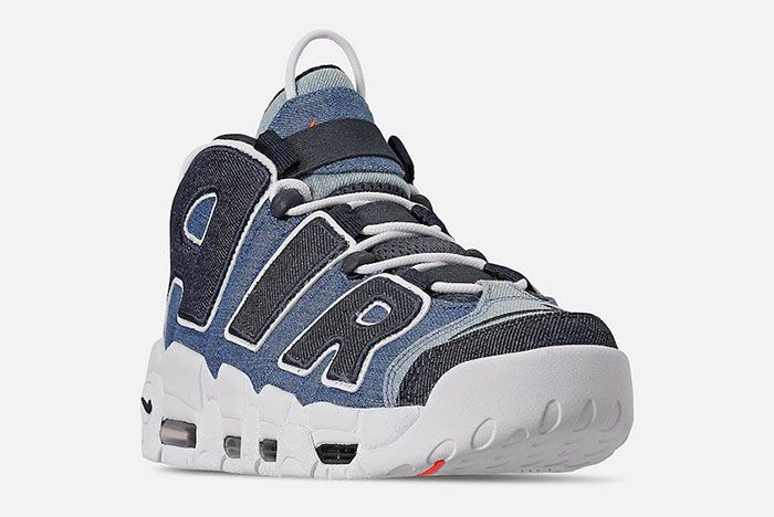 Nike Air More Uptempo Denim Cj6125 100 Release Date 3 Side Angle
