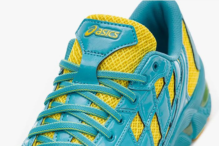 Kiko Kostadinov Asics Gel Kiril Blue Yellow Tongue Shot
