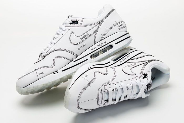 Nike Air Max 1 Schematic Not For Resale Long