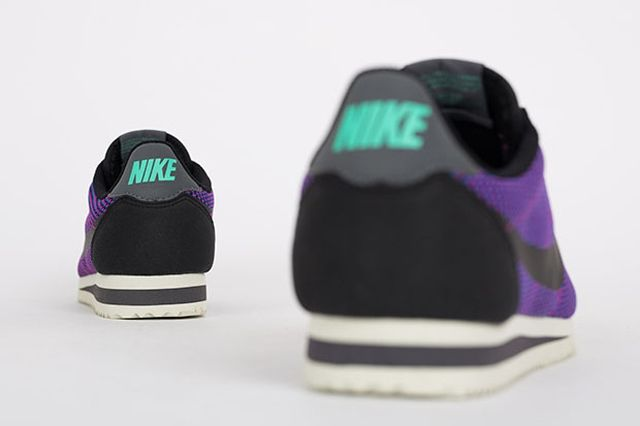 Nike Cortez Black Purple