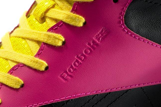 Reebok Alicia Keys Freestyle Hi Pink Black Midfoot Detail 1