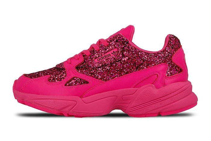 Adidas Falcon Shock Pink Sequins 1