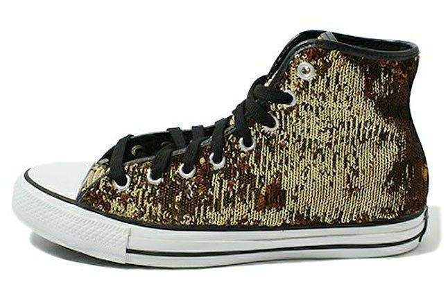 Converse All Star Gold Sequins 1