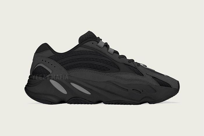 Adidas Yeezy Boost 700 V2 Vanta Black Grey First Look Side Profile