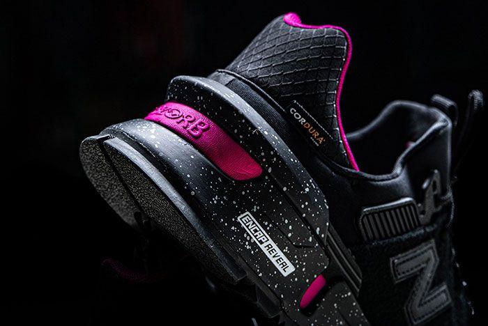 New Balance 997 S Black Pink Heel Close Up