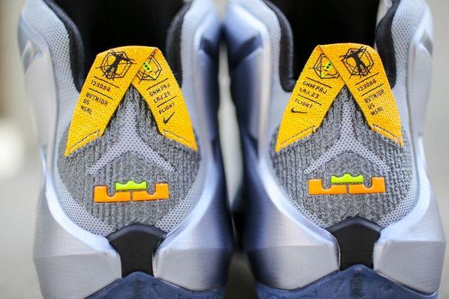 Nike Le Bron 12 Wolf Grey Bright Citrus 2