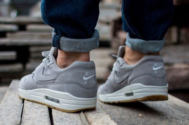 Nike Air Max 1 Leather Premium Medium Grey 31