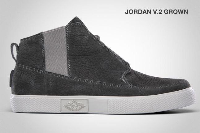 Jordan V 2 Grown Light Charcoal 1