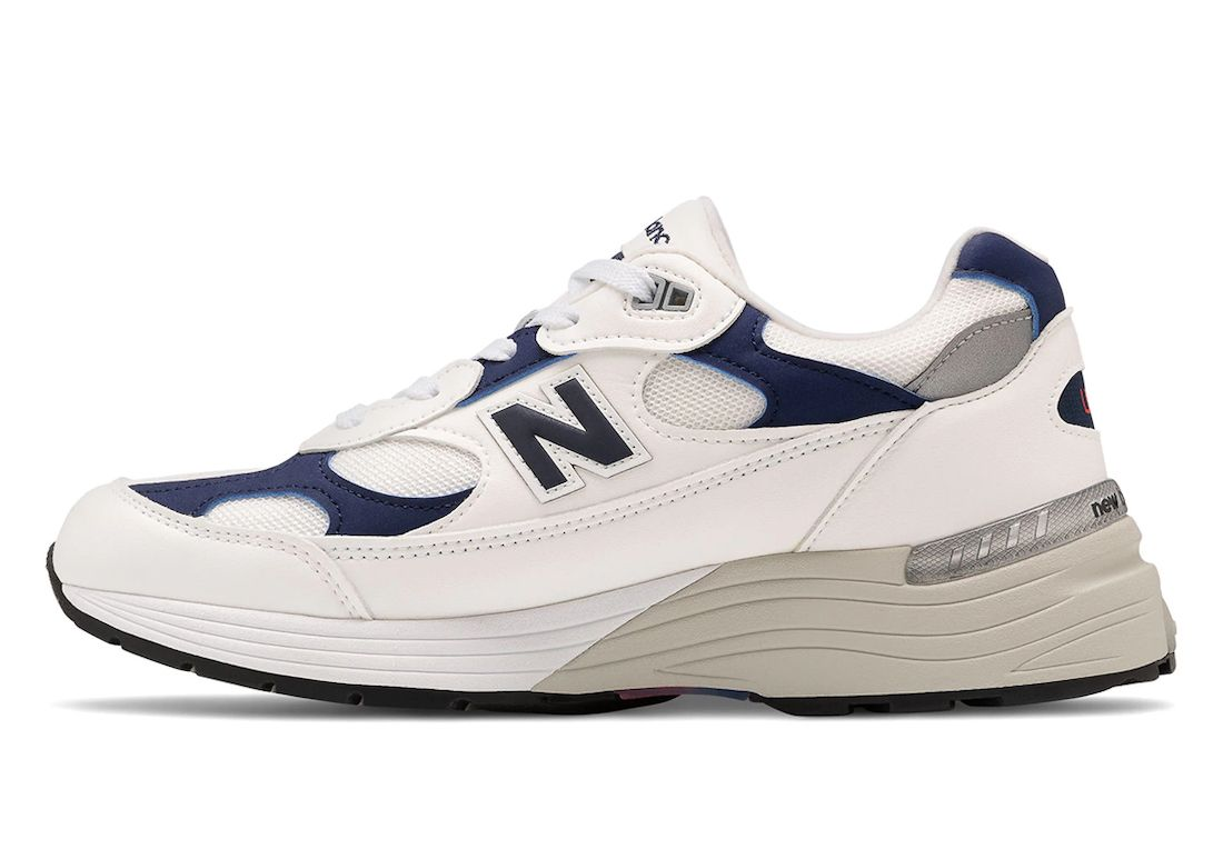 New Balance 992 Navy White Left