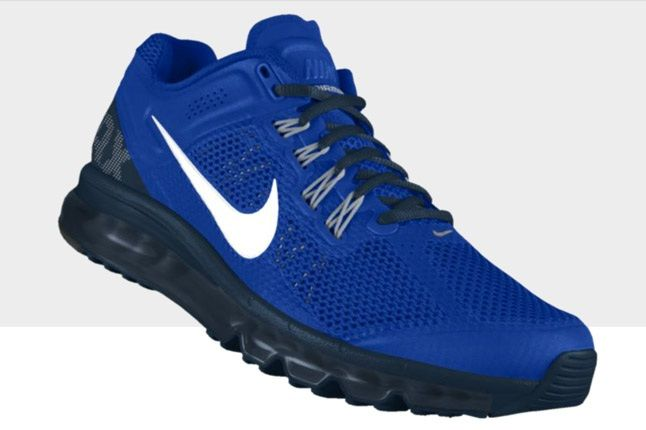 Nikeid Air Max Blue White Profile 1