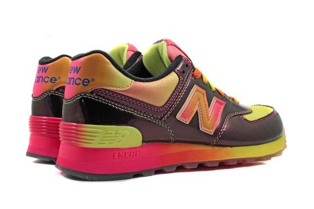 New Balance 574 Rainbow Pack Pink Heel Quarter 1