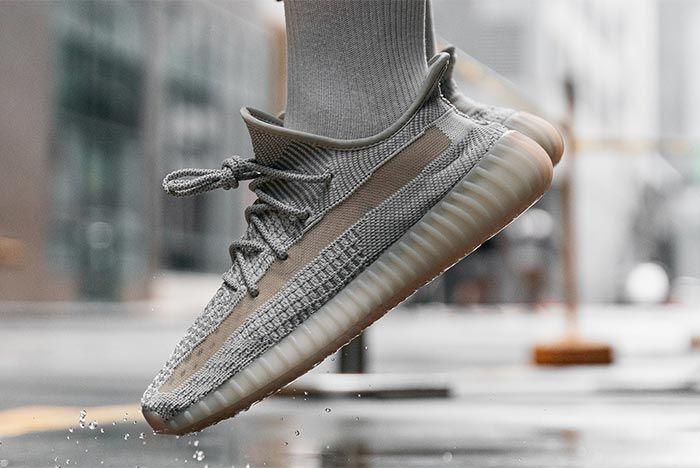 Adidas Yeezy Boost 350 V2 Reflective Lundmark On Foot Angled Side Shot