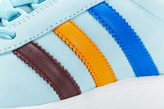 Adidas Consortium Adicolor Baby Blue Midfoot Detail 1