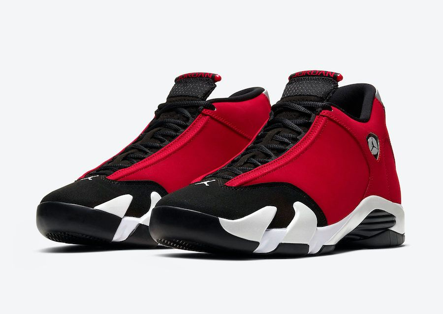 Air Jordan 14 Gym Red Angled