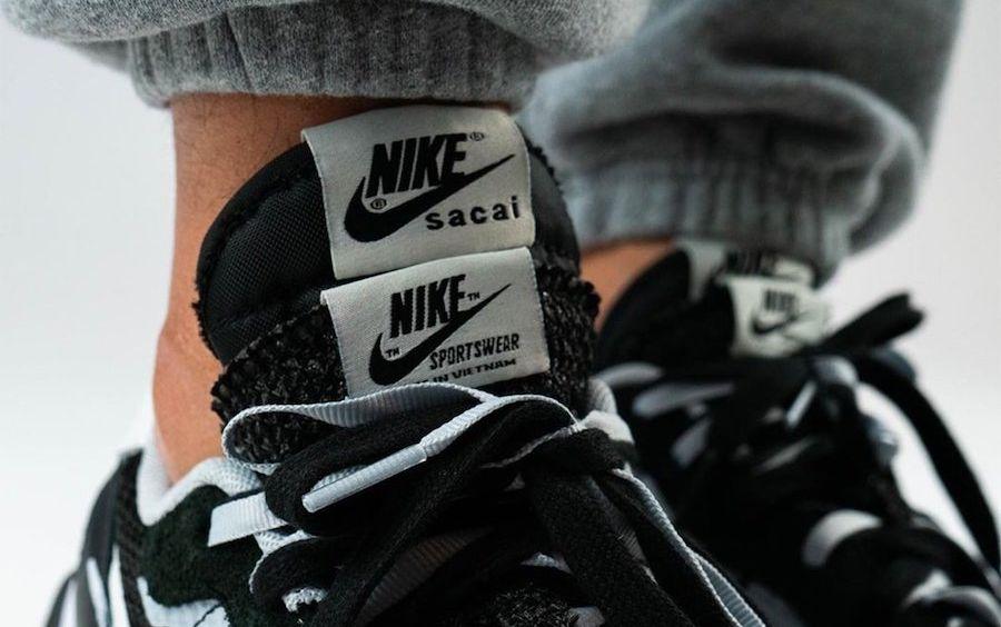 sacai x Nike VaporWaffle (Black/White)