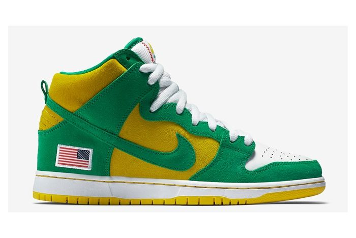 Nike Sb Dunk High Oakland A 2