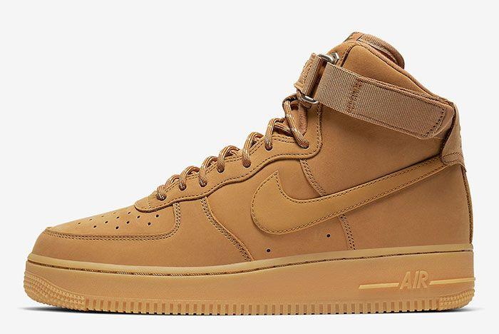 Nike Air Force 1 High Wheat Flax Cj9178 200 Lateral