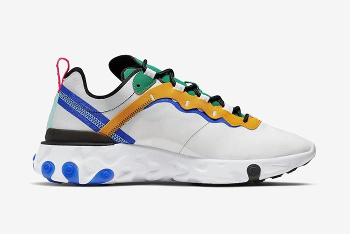 Nike React Element 55 White Multicolour Medial