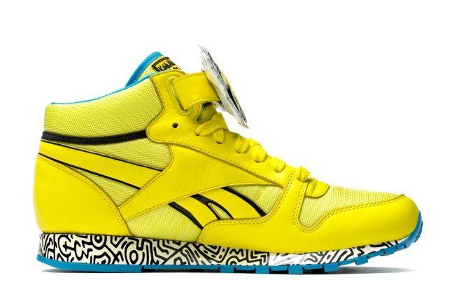 Reebok X Keith Haring Barking Dogs Yellow Blue Profile 1