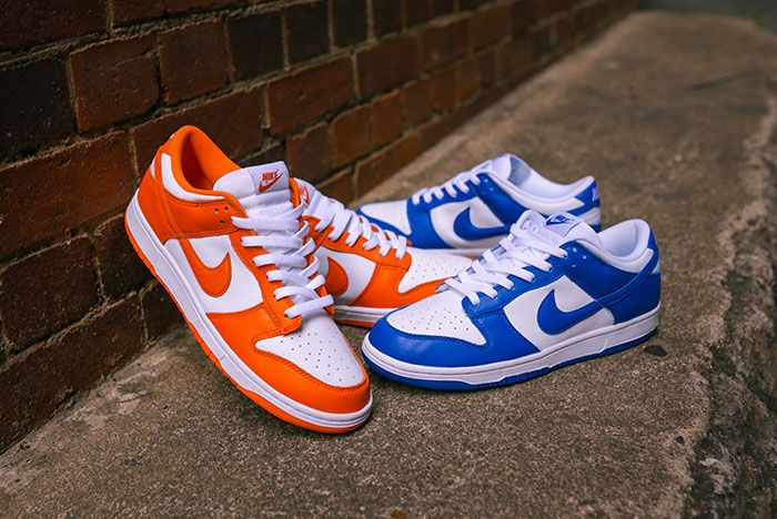 Nike Dunk Low Kentucky Syracuse Up Close Hero Shot Laced Sneaker Freaker7