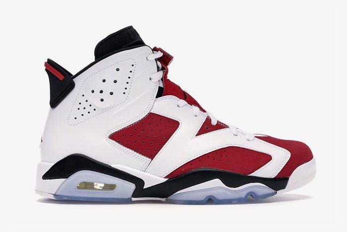 Nike Air Jordan 6 Carmine Lateral Side Shot