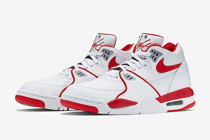 Nike Air Flight 89 White University Red 819665 100 Front Angle