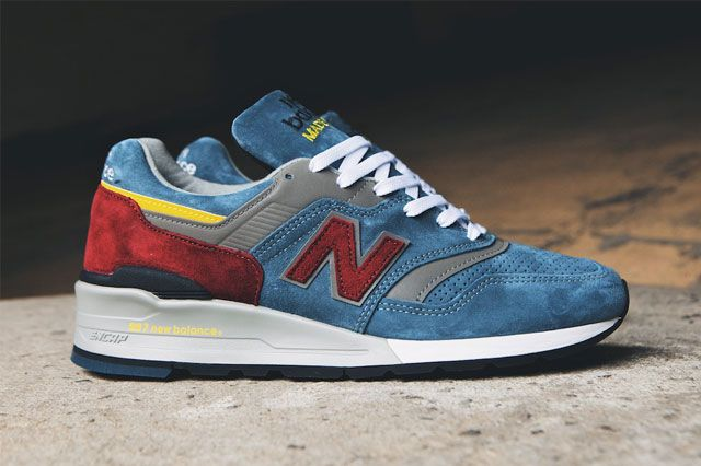 New Balance 997 Burgundy Teal 3