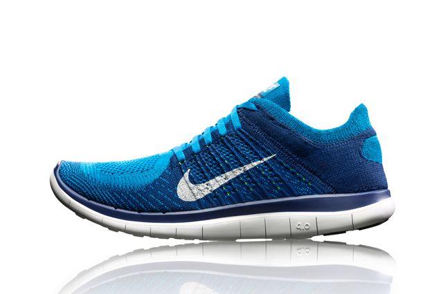 Nike Free Flyknit 4 Blu Sideview