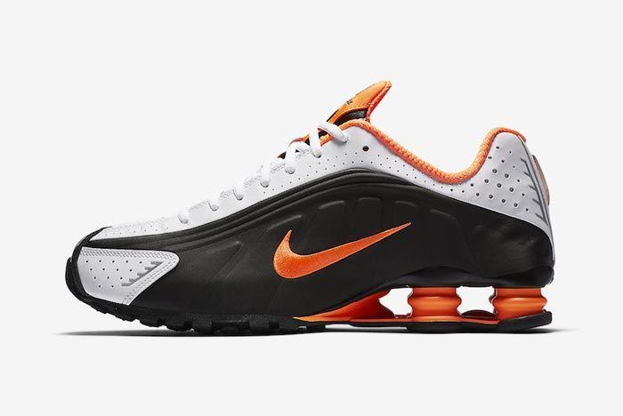 Nike Shox R4 Dutch Orange Lateral