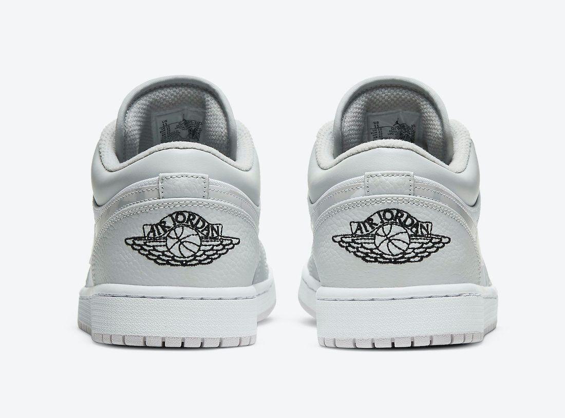 Air Jordan 1 Low White Camo Heel
