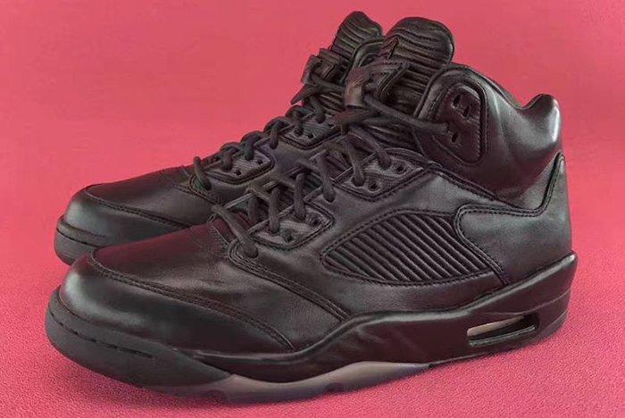 Air Jordan 5 Premium Triple Black3