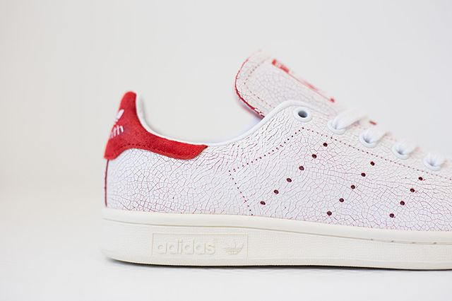 Adidas Stan Smith Cracked Leather White Red 3