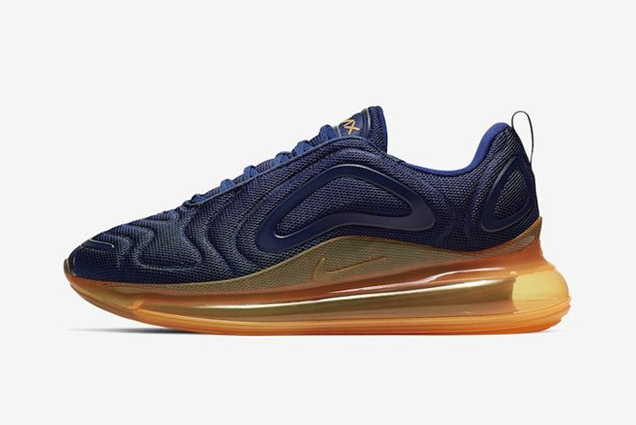 Nike Air Max 720 Midnight Navy Laser Orange Lateral