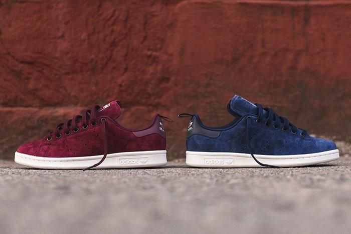 adidas Stan Smith Suede (Burgundy And