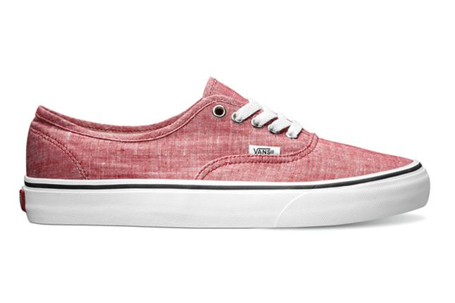 Vans Classics Authentic Classic Chambray Chili Pepper Spring 2013 1