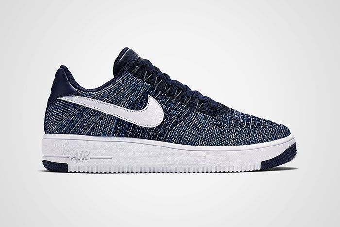 Nike Air Force 1 Flyknit Navy White Thumb